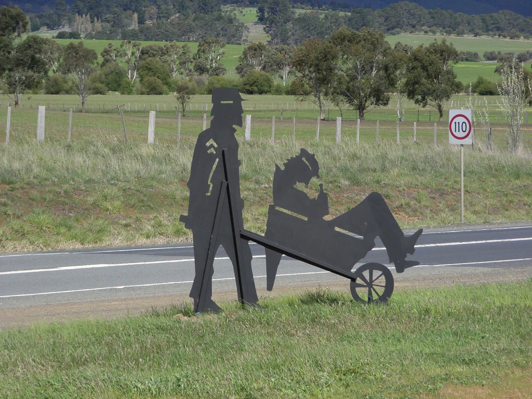 1 of 16 sculptures along the Midland Highway, commissioned by the Southern Midlands Council, Tasmania
